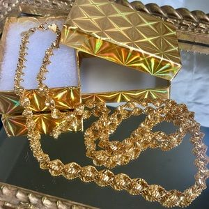 Vintage Premier Designs Gold Double Helix Chain